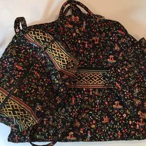 """3pc Vera Bradley """"Ming"""" Dress, Tote, Bag Set"""